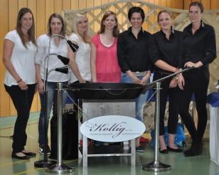 Fleißige Helfer der 1. Damenmannschaft des TuS 07 Bannberscheid!