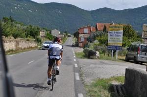 Marcel auf dem Weg durch die Provence