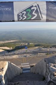 Tour 3333 auf dem Gipfel des Mont Ventoux