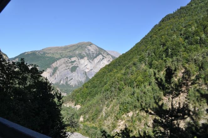 Blick in das Tal, wo es nach Alpe d'Huez hinaufgeht