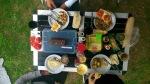 Adrian's Geburtstagstisch zum Frühstück