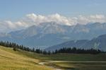 Annecy Semnoz - Von Zielankunft der Blick über die Alpen