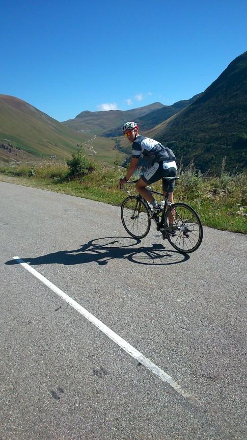 Im Hintergrund der letzte leichte Anstieg zum Col du Glandon