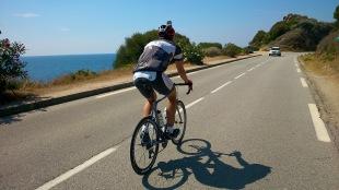 Christian an der Küste vor Calvi
