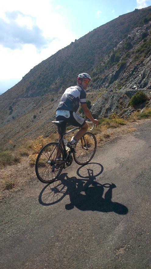 Anstieg auf den Berg, von dem aus wir später in Richtung Ponte Leccia wieder abfuhren