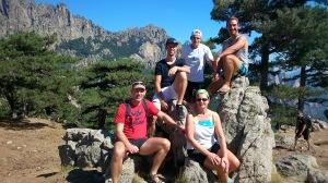 Hanjo und Anja mit uns auf dem Col de Bavella