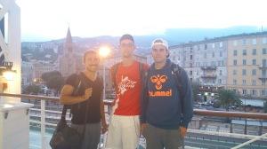 Abfahrt. Im Hintergrund lassen wir Bastia zurück!