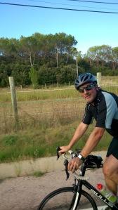 Rainer auf dem Weg zum Zielpunkt des Etappenabschnittes für den heutigen Tag