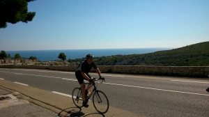 Rainer beim Befahren des Col de la Gineste - vor Marseille
