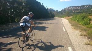 Adrian - im Hintergrund der Col de la Vayède.