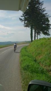 Marcel auf dem Weg nach Albi