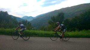 Letzter Anstieg des Tages für die beiden - Marcel und Adrian