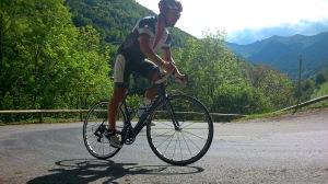 Marci beim Anstieg auf den Col de Menté